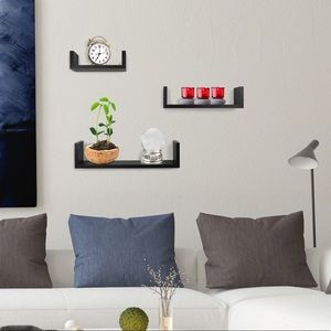 Set of 3 Wall Mounted Floating Shelves